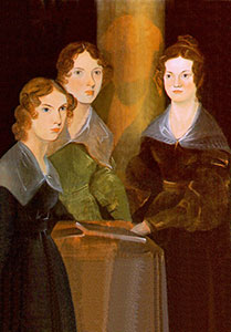 Anne, Emily and Charlotte Bronte via Wikipedia