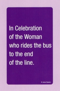 Jane Seskin's plain jane card