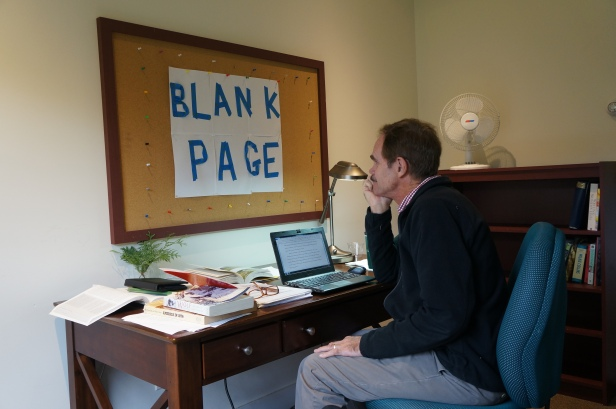 Mark W staring at Blank Page