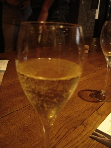 Champage in a glass
