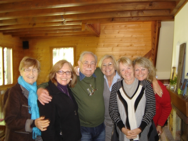 October 2010 in Essoyes, author Renee Johnson on far right