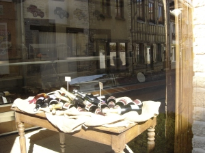 Essoyes - Window Display of the Wine Shop