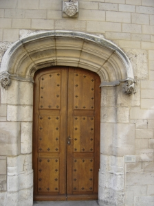 Troyes - iron studded door