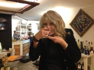Renee at olive oil tasting in Orvieto