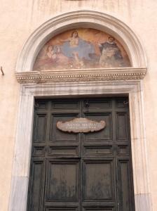 Rome - Santa Maria Sopra Minerva entrance