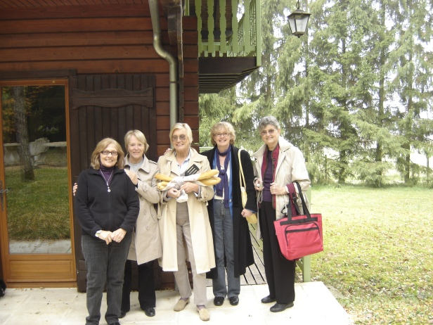 Outside Janet's French Ranch in Essoyes 2010, Janet Hulstrand second from right